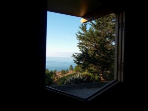 View from the Chapel window towards the Pacific Ocean